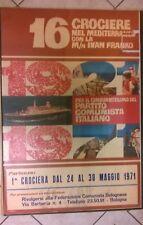 manifesto cinquantenario partito comunista  crociere nel mediterraneo 1971