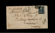 #216 w/ WHITINSVILLE MA 1890 to Barring Brothers, London Brown's Hotel Dover St