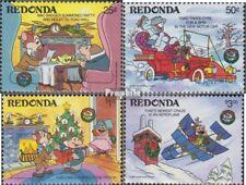 Redonda 220-223 (compleet Editie) postfris MNH 1986 Walt-Disney-Cijfers