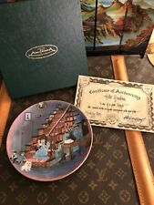 Anna Perenna P Buckley Moss 1990 Hello Grandma Plate with Certificate Plate 5405
