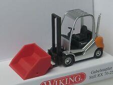 WIKING CARRELLO ELEVATORE STILL RX 70-25 con Scoop - 0663 38 - 1:87