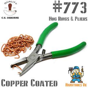 CS Osborne Copper Coated Hog Rings / Pliers - Car / Marine / Aircraft Trimming