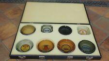 Vintage Ash Tray Line Salesman Sample Display Suitcase with 8 ashtrays