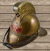 FULL BRASS FIREMEN MERRYWEATHER VICTORIAN FIRE FIGHTERS HELMET WITH LINER NEW""