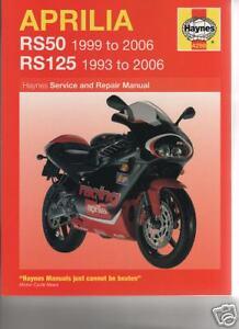 APRILIA RS50 1999-2006 & RS125 1993-2006 SERVICE, REPAIR WORKSHOP MANUAL