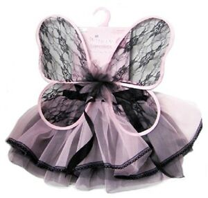 Fairy Lace Set Princess Pink Pixie Fancy Dress Halloween Child Costume Accessory
