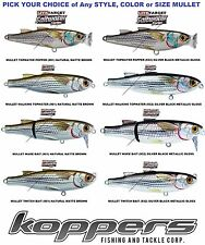 Koppers Live Target Mullet Any Saltwater Topwater Lure Popper Wake Twitch Bait