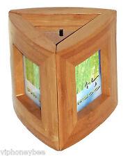 Bamboo Picture/Photo Frame Trio-Triangle 3 Piece Set- Unique for Office Desk