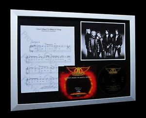 AEROSMITH I Don't Want To Miss A Thing LTD MUSIC FRAMED DISPLAY+FAST GLOBAL SHIP