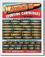 Remington Sporting Cartridges Guns Metal Sign Tin New Vintage Style USA #1001