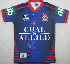 ANDREW JOHNS Hand Signed Newcastle Football Jersey Immortal