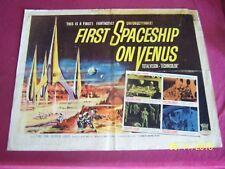 "FIRST SPACESHIP ON VENUS Original 1962 (28""x22"") Movie Poster Aliens SCI FI"