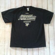 Vintage Pittsburgh Penguins Hockey Lee Sport Black T-shirt Size Large