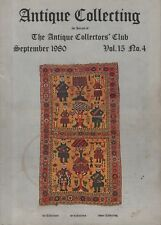 ANTIQUE COLLECTING (September 1980) BALUCH RUGS - BASE METAL SPOONS - CARPETS