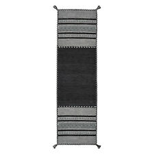 Brook Lane Rugs Kelim Hand-woven Grey Area Rug Runner 67 X 220cm
