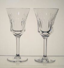 "VAL ST LAMBERT CRYSTAL Wine Glasses 6"", Hex Stem, SET of 2,BIRKS CRYSTAL, CP1248"