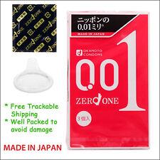 Ultra Thin Condom Japan Okamoto 001 0.01 mm Zero One Thinnest Condoms Nude 3pcs