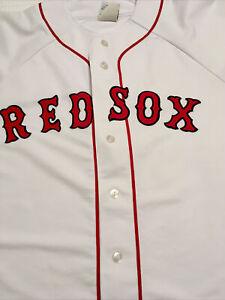 Majestic MLB Boston RED SOX Baseball Jersey Mens Size Large