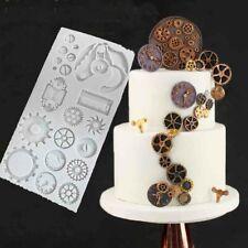 Steampunk Gear Cog Watch Wheel Clock Fondant Silicone Mould Cake Baking Mold DIY