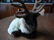 "Nanco Wildlife Series Elk Plush Stuffed Laying Brown Forest 11"""