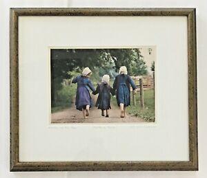 "Bill Coleman, Amish Photographer, Signed Framed Ltd. Ed. Print, ""Sisters Three"""