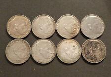 8 x 2 Reichsmark Silber Hindenburg