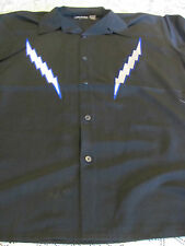 DRAGONFLY SHIRT DF FLASH Embroirdered Button Front XL   golf Club NEW