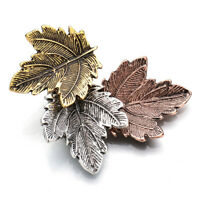 Vintage Metal Maple Leaf Brooch Pin Women Wedding Bouquet Party Jewelry Gift US