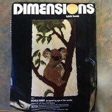 Dimensions Latch Hook Rug Kit 4007 Koala Baby 20 X 36 Eye Of The Needle 1977