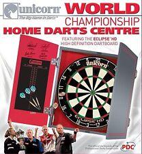 Genuine Unicorn Eclipse HD World Championship Darts Centre Board / Cabinet / Dar