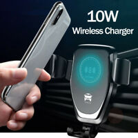 10W QI Wireless Fast Charger Car Mount Holder Stand For iPhone XS Max Samsung ov