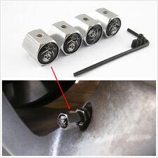 4 x Jolly Roger Logo Car SUV Wheel Tire Valve Stem Metal Anti-Theft Locking Caps