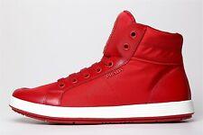 Prada Men's Red White High Top Sneakers 6128 Sz 8 UK