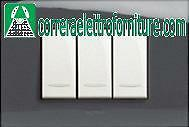 LEGRAND 685647 VELA QUADRA – PLACCA NERO LUCIDO 4 MODULI