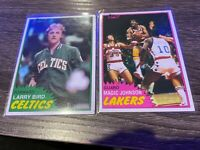1981-82 TOPPS MAGIC JOHNSON and Larry Bird 2nd Year Lakers Celtics