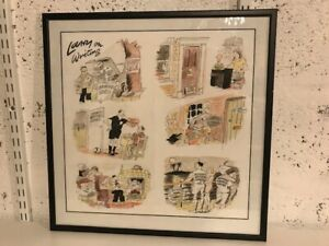 Larry on Writing Terence Parkes Cartoon Framed Picture