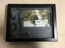 """6 X 4"""" Black Family Quote 8 X 10"""" Picture Frame 121316bkk"""