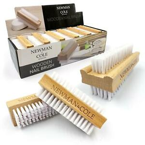 3x Wooden Nail Brush Cleaning Scrubbing Double Sided Cleaner Manicure Pedicure