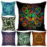 1Pc Mandala Pattern Throw Pillow Case Cushion Cover Home Sofa Bed Car Decor