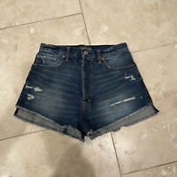 Abercrombie & Fitch high rise jean button fly Shorts Womens Size 27