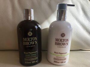 Molton Brown 300ml Black Peppercorn Body Wash & 300ml Lotion BRAND NEW