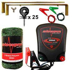 Electric Fence Energiser SRB60 12V 0.6J Green Polywire Kit