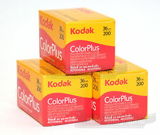 Kodak Colorplus 200 35mm 36exp 3 Rolls Cheap Colour Film Free UK Postage