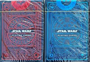 Theory11 Star Wars Combo 2 Deck Playing Cards Blue Red The Light Dark Side Poker