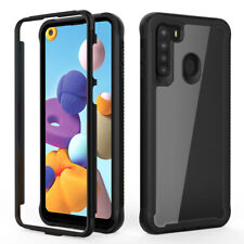 For Samsung Galaxy A21 Case Heavy Duty Shockproof Rugged Armor Clear Phone Cover