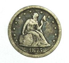 1875 S Seated Liberty 20 Twenty Cent Piece Silver San Francisco U.S. Mint Coin