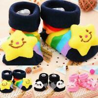 Baby Girl Boy Anti-slip Socks Cartoon Newborn Slipper Months Shoes Boots 0- R2Y6