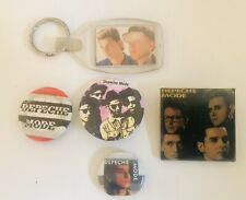 Rare Authentic Vintage 80 90 Depeche Mode Pins Keychain. Amazing Collection