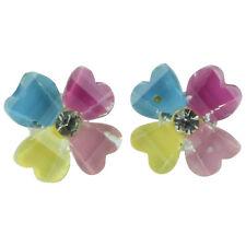 TFB-bonito pensamiento Flor Aretes Chicas Jardín de Color multi verano peculiar