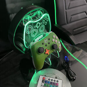 Personalised Xbox One Controller Headset Stand Gaming Station light base